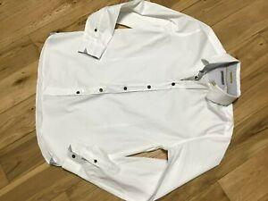 Designer Ted Baker Men's White 100% Cotton Casual Shirt Size L (4)