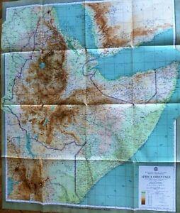 Etiopia Djibuti Somalia Jemen Africa old big map 1935