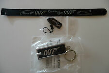 James Bond 007 Wristband, Phone Tag & Keyring Light Set, Quantum of Solace Gift