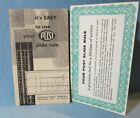 Vintage 1940's POST SLIDE RULE Booklet  ~ How to Use
