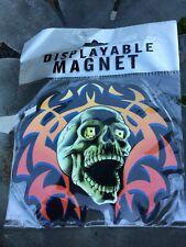Large Skull with Flames 💀🔥 Flexible Displayable Fridge Car Magnet