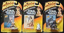 STAR WARS ACTION MASTERS LOT of 3 - Luke Skywalker, R2-D2 & Darth Vader - NIB