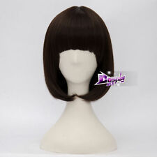 Scooby Doo Velma Dinkley 14'' Short Dark Brown Anime Cosplay Wig Heat Resistant