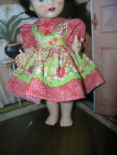 """2 pc Dress Bloomer Set Doll clothes fits 16"""" Ideal Saucy Walker or Pedigree"""