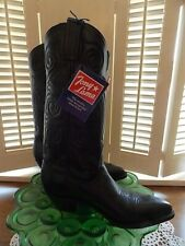 Tony Lama 1974 Women's Black Boots in the box