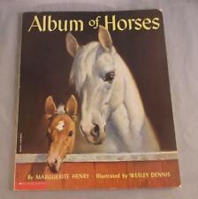 AN ALBUM OF HORSES BY MARGUERITE HENRY 1951 SCHOLASTIC INC. RAND MCNALLY SOFT C