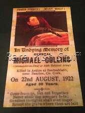 General Michael Collins  -1922 Irish Ireland Free State Army Memorial Card Print