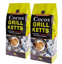 Cocos Grillketts - ökologische Grill Briketts aus Kokosnuss Kohle 2x3kg