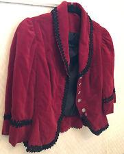 Vintage velvet rhinestone button jacket coat