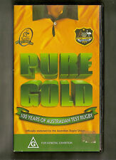 #JJ4.  RUGBY UNION VHS VIDEO - PURE GOLD, 100 YEARS OF AUSTRALIAN TEST RUGBY