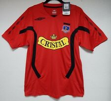 """Umbro 42"""" Chest Men's M Chile Red Jersey Football Athletic Shirt New Cristal"""
