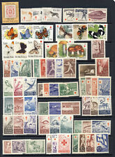 Finland 23 mnh vf complete topical sets on one stockpage