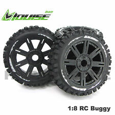 LOUISE RC 1/8 BUGGY BULLDOZE SUPER OFFROAD TYRES WHEELS X 4 HOBAO HSP KYOSHO