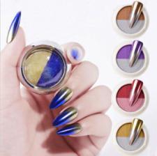 Dual Color Mirror Effect Chrome Pigment Dust Holographic Glitter Nail Art Powder