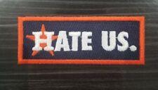 Houston Astros Patch - Hate Us Rainbow Baseball Jersey Altuve Iron ON Bregman