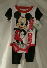 Disney Micky Mouse Baby New Born 3-6 mo Childrens Clothes Shirt Pants Set Kids