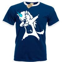 Dabbing Unicorn Mens T-Shirt S-3XL Ringer Top dab