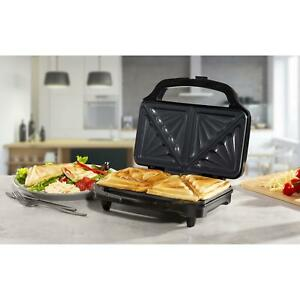 Stainless Steel Dual Sandwich Toaster Waffle Maker Toastie Grill Panini Press