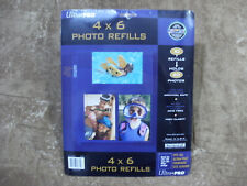 """Ultra Pro 8.5""""X11"""" Refill Pages 10/Pkg - for 4""""X6"""" Photos (holds 60 total) - NEW"""