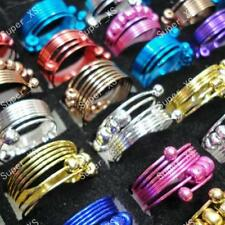 120pcs Colorful Iron Spring Rings Wholesale Jewelry Lots Mixed New Free Shipping