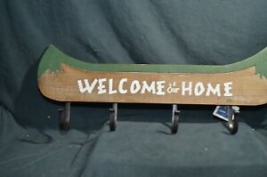 Wooden Boat Coat Hanger Welcome to Our Home