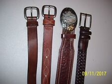 9 BELTS, LEATHER, THE LIMITED, VAL-A COWHIDE, DOCKERS, CLAIBORNE, RALPH LAUREN +