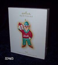 "New & Mint 2007 Hallmark Dad ""Gingerbread Cookie"" Keepsake Ornament"