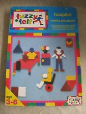 vintage 1980s FUZZY FELT picture board story telling HOSPITAL creative felt toy