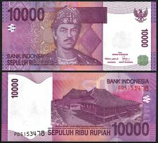 Indonesia 10000 RUPIAH 2008 P 143d UNC