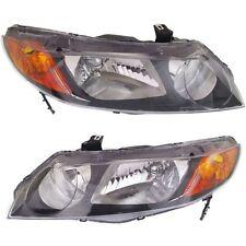 For Honda Civic 06-11 Headlights Headlamps Pair Set Left & Right Sedan New