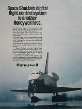 12/1977 PUB HONEYWELL DIGITAL FLIGHT CONTROL SYSTEM SPACE SHUTTLE ORIGINAL AD
