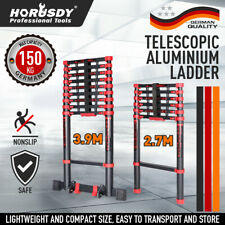 2.7M/3.9M Telescopic Aluminium Ladder Extension Steps Multipurpose Folding Alloy