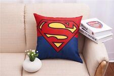 Cotton Linen superman Throw Pillow Case Cushion Cover Home sofa pillowslip 45cm