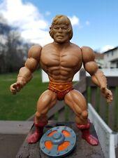 Vintage 1981 He-Man MOTU Action Figure Mattel Mexico w/ Shield Tight Legs/Joints