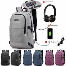 """AUGUR Men Travel 17"""" Laptop USB Swiss Backpack School Bag Hiking Shoulder Bag"""