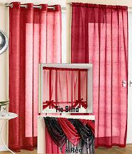 Tyrone Textiles Casablanca Slot Top Single Panel Curtain Red 137cm W X 122cm L