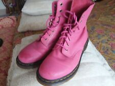 DR MARTENS PINK PASCAL LEATHER BOOTS UK 8 EU 42 VGC