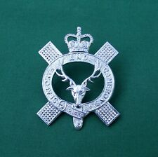 "Queen's Own Highlanders ""Anodised"" Pipers - Genuine British Army Military Badge"