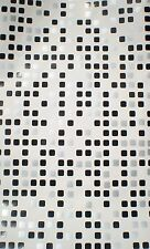 Metallic Black & Silver Squares on White Background by Brewster  FD62168