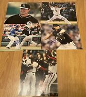 5 Piece Chicago White Sox's MLB Autographed Signed 8X10 Photo lot W/COA