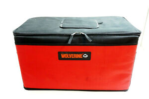 """WOLVERINE Insulated Cooler Ice chest Red and Black 24"""" x 14"""" x 12"""" Folds Flat"""