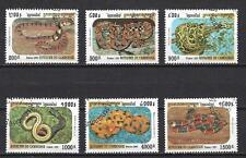 Animaux serpents Cambodge (133) complète 6 timbres oblitérés