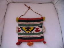 Vintage Colorful Ethnic Yougoslovian Hand Made Woven Handbag Purse