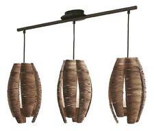 Lámpara colgante de iluminación de techo de interior de color principal marrón de cristal