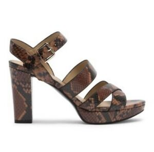 NEW Naturalizer Women's Kanye Strappy Platform Sandal Snake Womens Size 8.5 $99