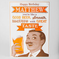 MALE BIRTHDAY GREETINGS CARD - Personalised funny joke humour ANY NAME, RELATION