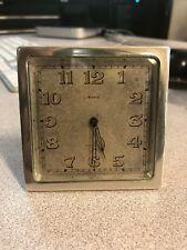 Tiffany & Co/Concord 8 Days Sterling Silver/Bronze Manual Wind Desk Clock