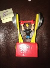 "Johnny Bravo pvc 4"" figure Cartoon Network Flipping Weight Lifting Toy"