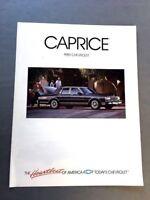 1989 Chevrolet Caprice Classic Sales Brochure Catalog - Estate Wagon Brougham LS