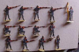 Kieler Zinnfiguren, 13 Soldaten, voraussichtl. HIZ,handbemalt, guter Zustand  x4
